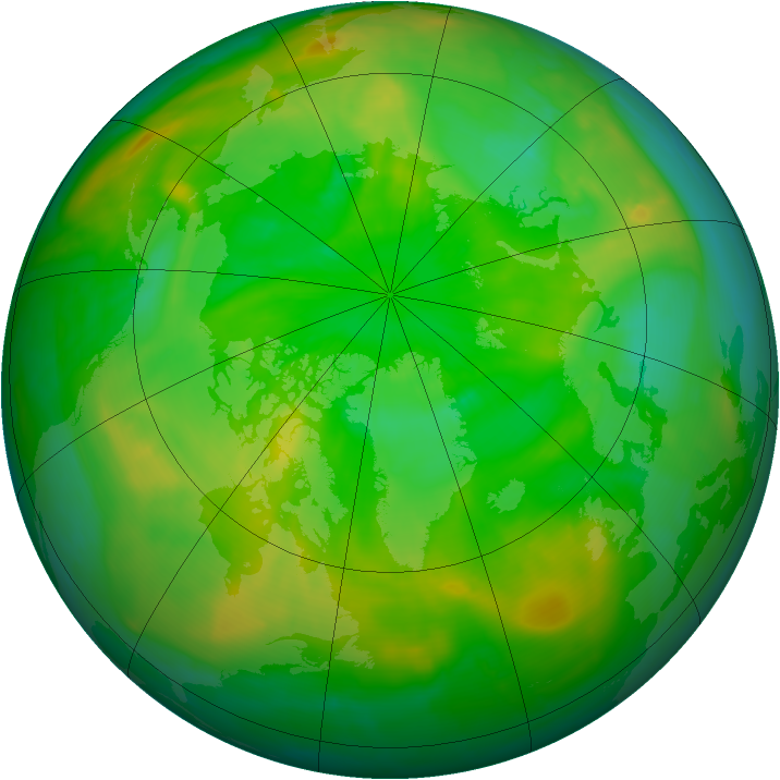 Arctic ozone map for 04 July 2015