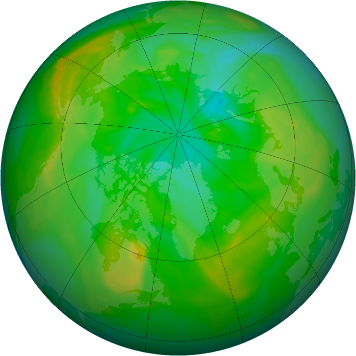 Arctic ozone map for 15 July 2015