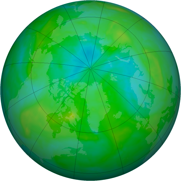 Arctic ozone map for 18 August 2015