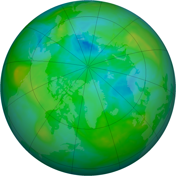 Arctic ozone map for 24 August 2015