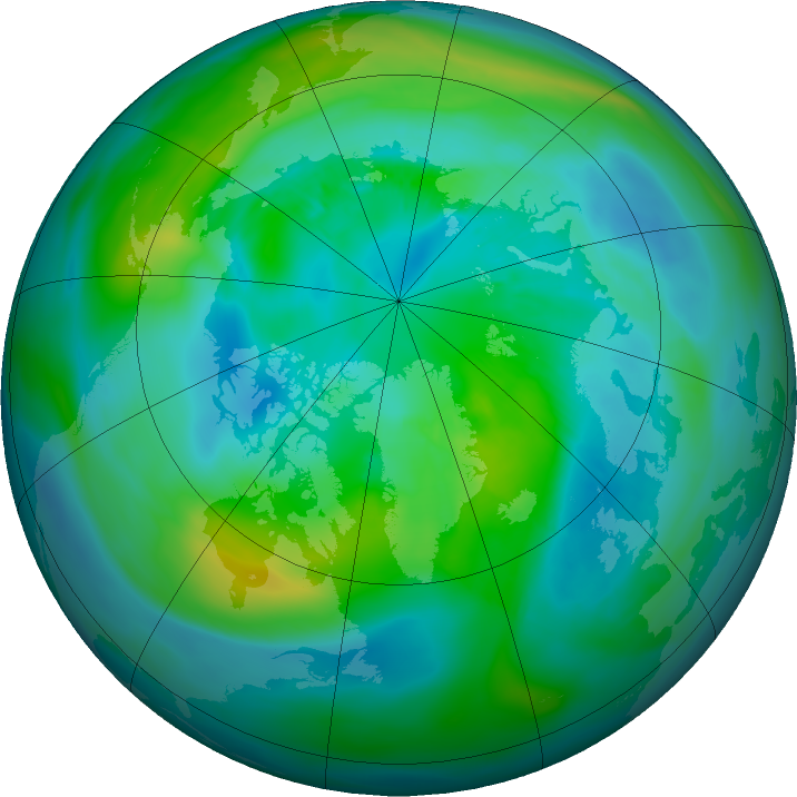Arctic ozone map for 29 September 2015
