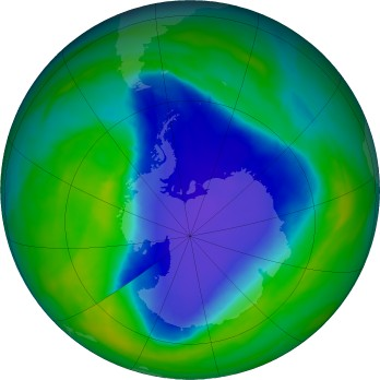 Antarctic ozone map for 2015-11-22