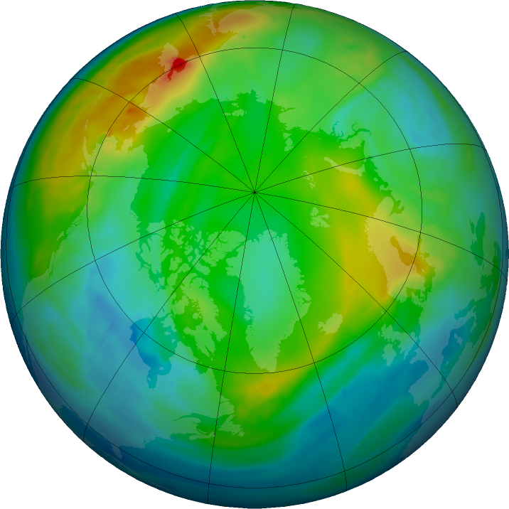 Arctic ozone map for 30 November 2015