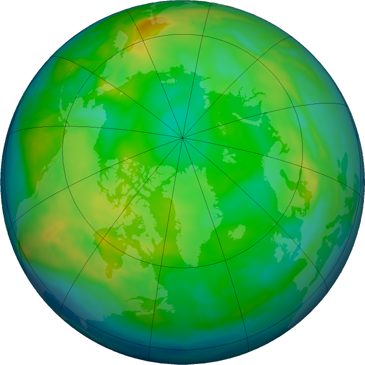 Arctic ozone map for 12 December 2015