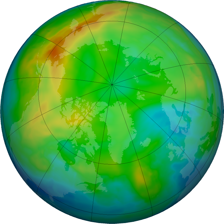 Arctic ozone map for 16 December 2015