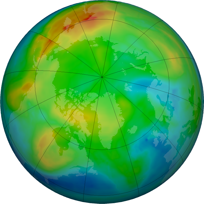 Arctic ozone map for 18 December 2015