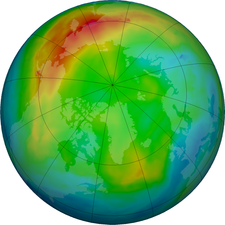 Arctic ozone map for 22 December 2015