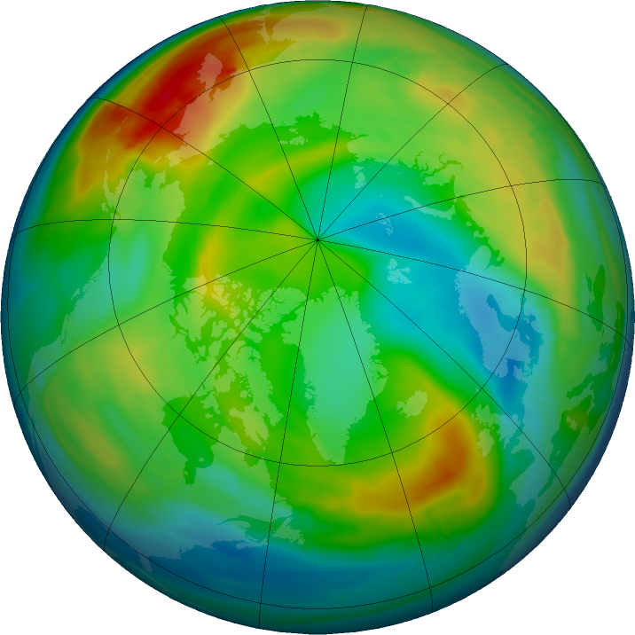 Arctic ozone map for 30 December 2015