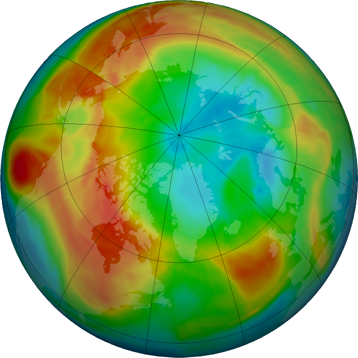 Arctic ozone map for 17 February 2016