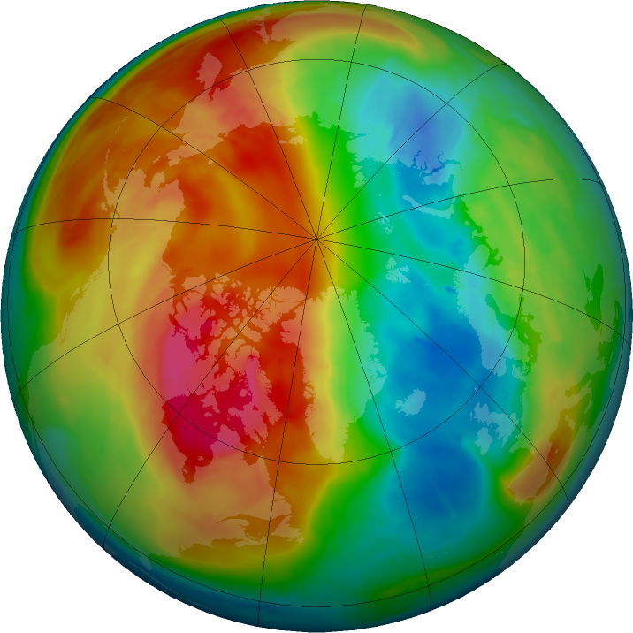 Arctic ozone map for 27 February 2016
