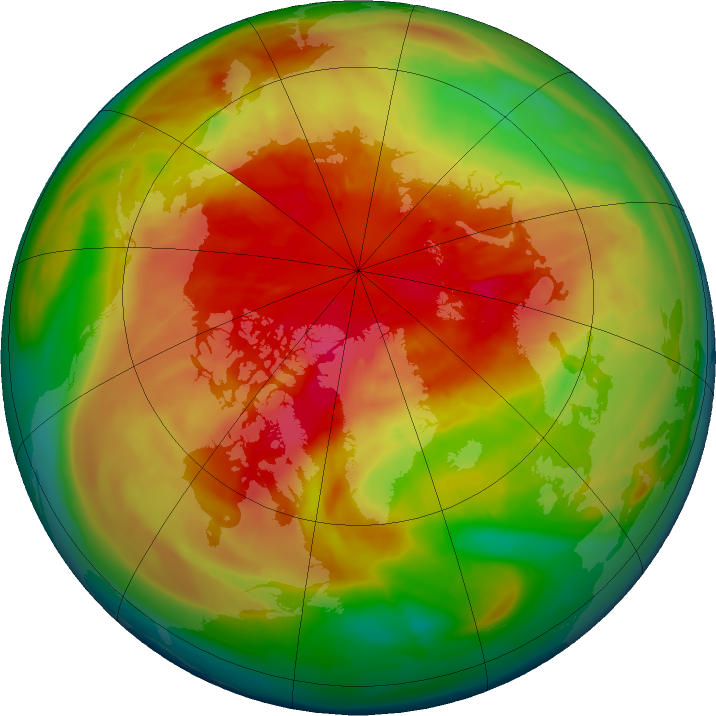 Arctic ozone map for 17 March 2016