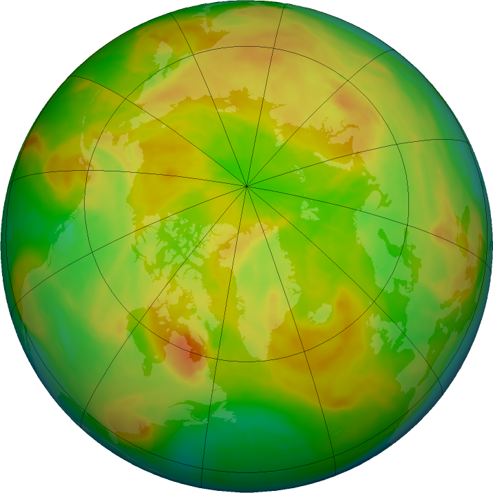 Arctic ozone map for 06 May 2016