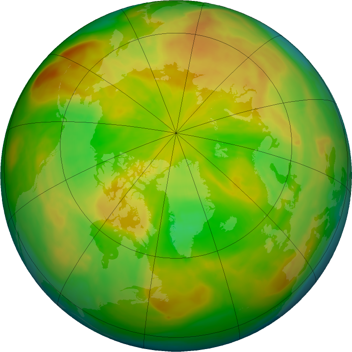 Arctic ozone map for 12 May 2016