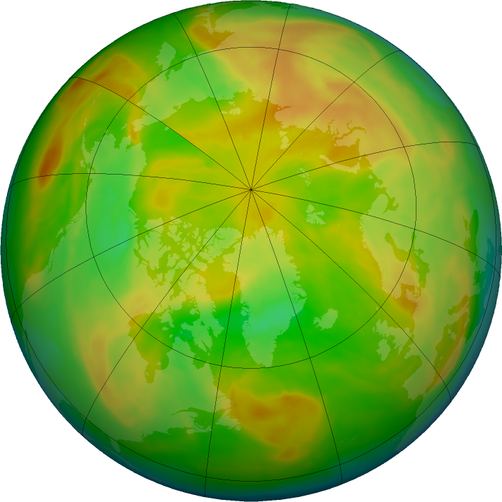 Arctic ozone map for 14 May 2016