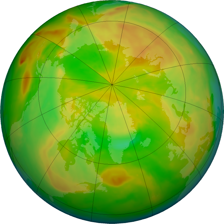 Arctic ozone map for 15 May 2016