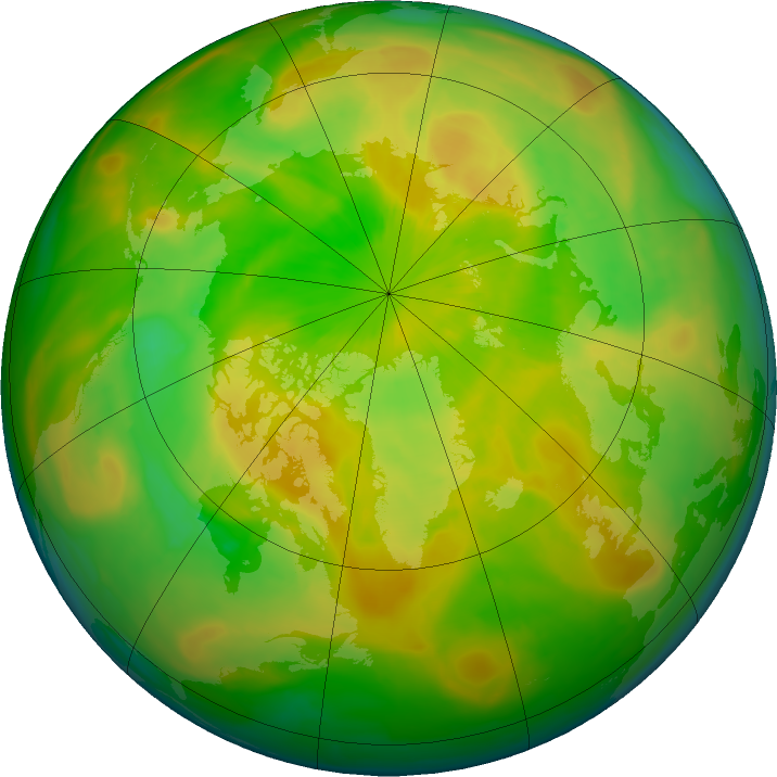 Arctic ozone map for 22 May 2016