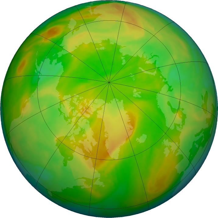 Arctic ozone map for 26 May 2016