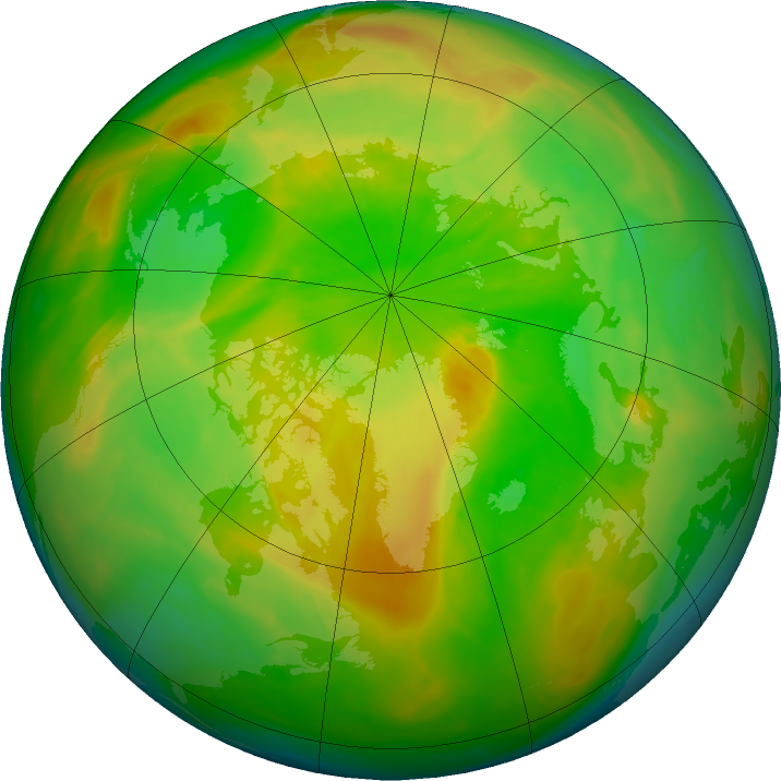 Arctic ozone map for 27 May 2016