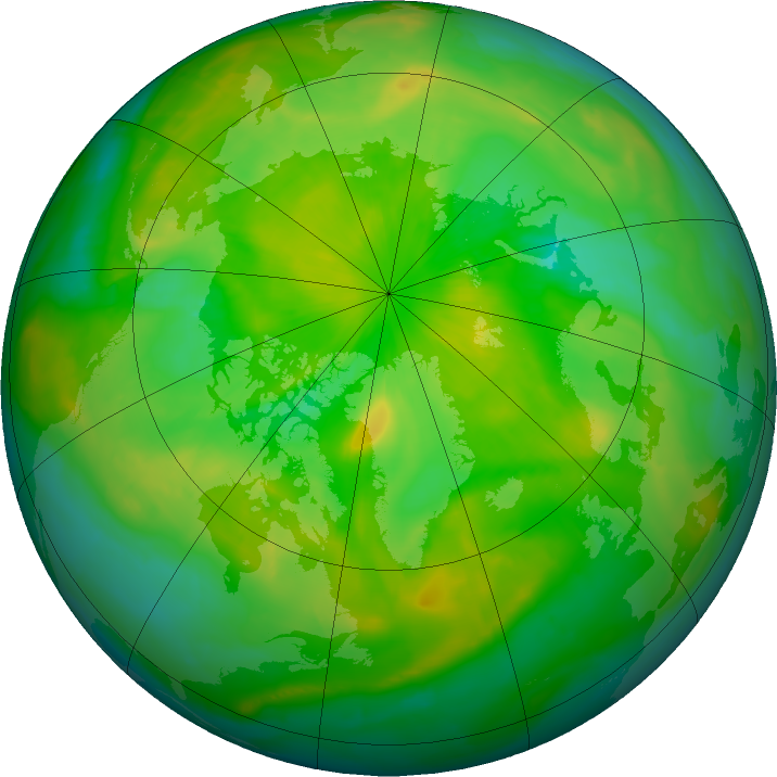 Arctic ozone map for 19 June 2016