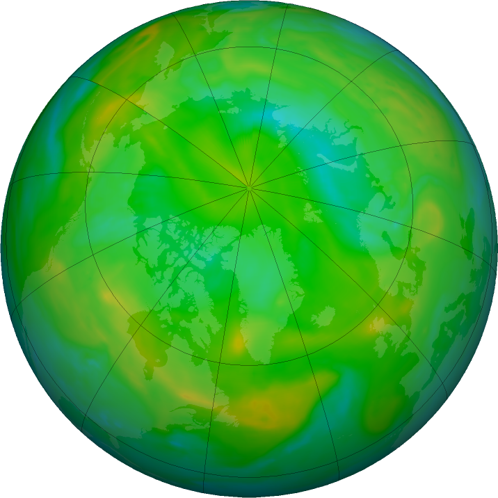 Arctic ozone map for 05 July 2016