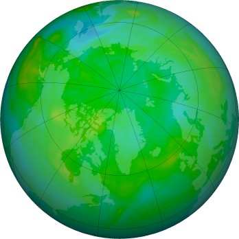 Arctic ozone map for 2016-07-26