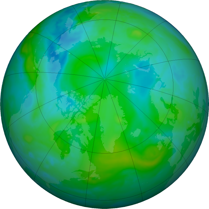 Arctic ozone map for 19 August 2016