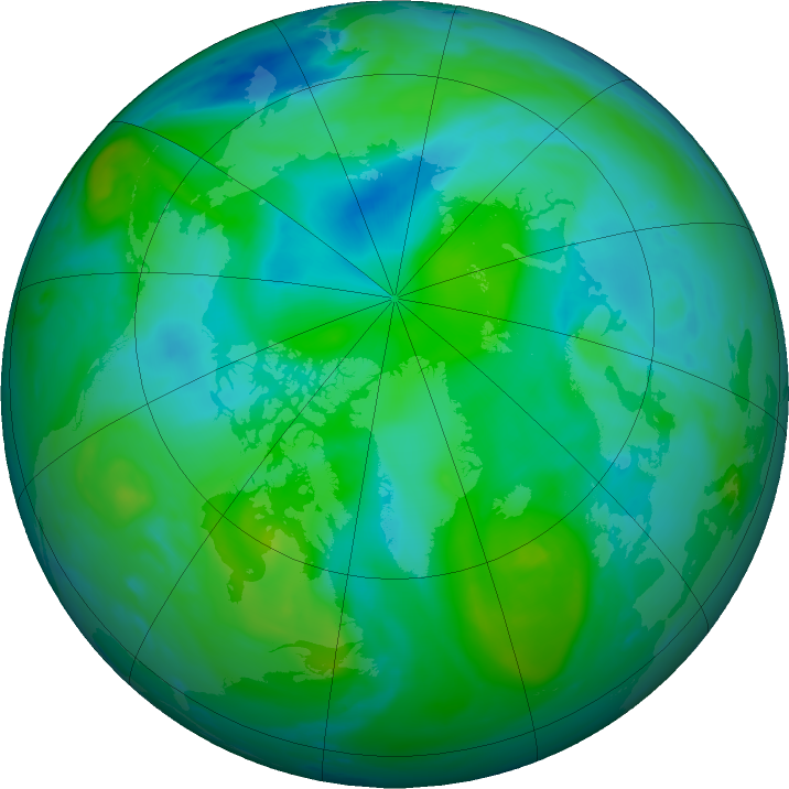 Arctic ozone map for 23 August 2016