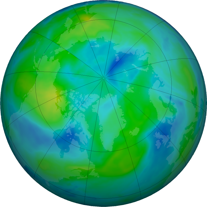 Arctic ozone map for 28 September 2016
