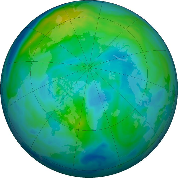 Arctic ozone map for 15 October 2016