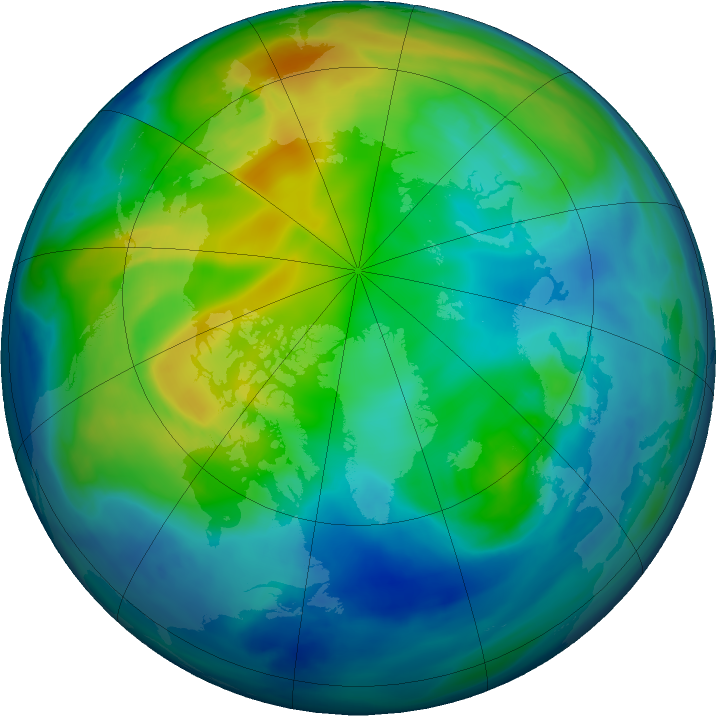 Arctic ozone map for 17 November 2016