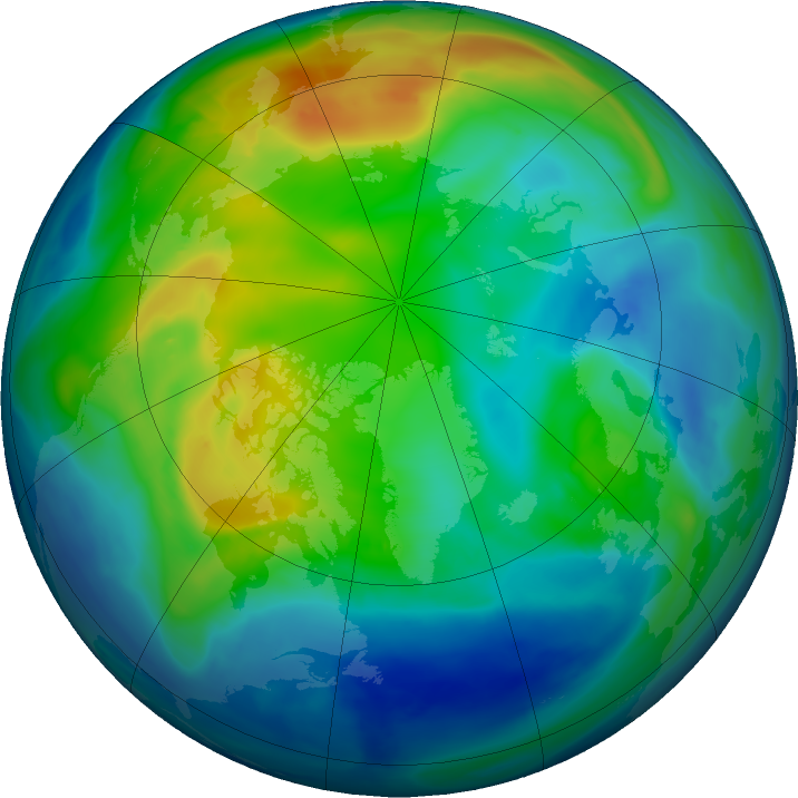 Arctic ozone map for 19 November 2016