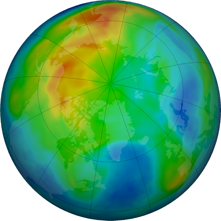Arctic ozone map for 22 November 2016