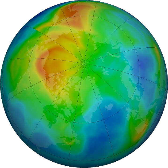Arctic ozone map for 23 November 2016