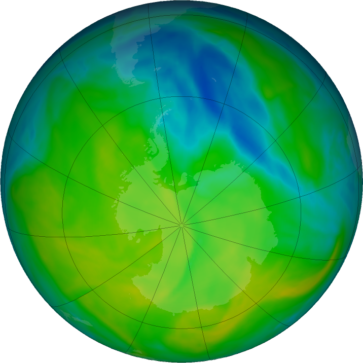 Antarctic ozone map for 23 November 2016