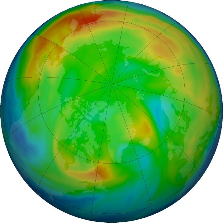 Arctic ozone map for 19 December 2016
