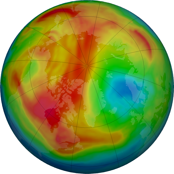 Arctic ozone map for 04 February 2017