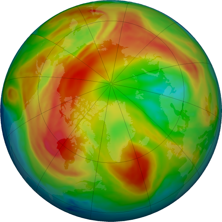 Arctic ozone map for 08 February 2017