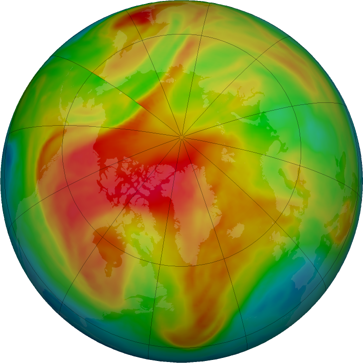 Arctic ozone map for 08 March 2017