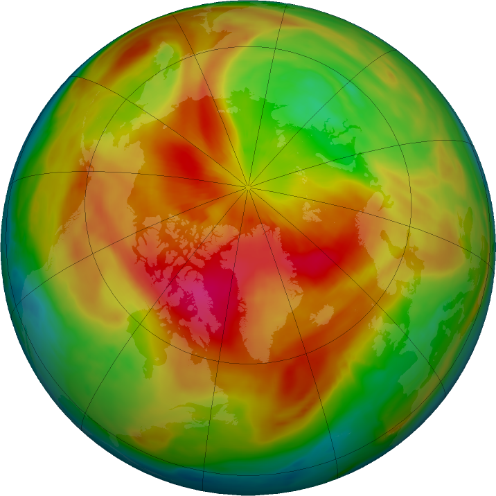Arctic ozone map for 19 March 2017
