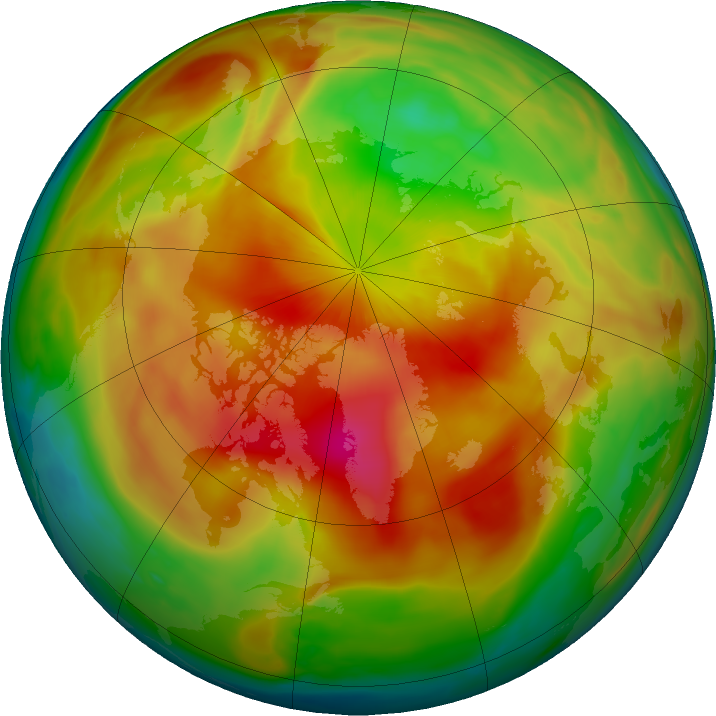 Arctic ozone map for 20 March 2017