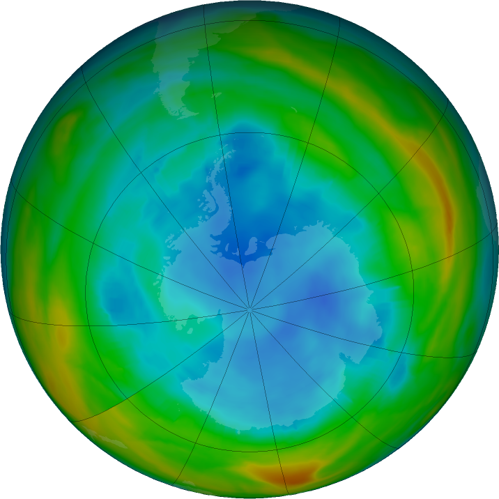 Antarctic ozone map for 03 August 2017