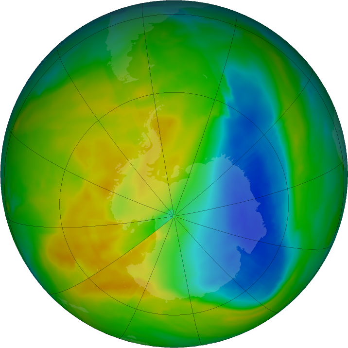 Antarctic ozone map for 10 November 2017
