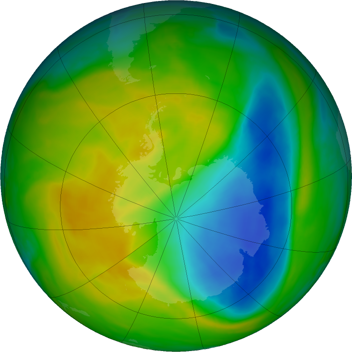 Antarctic ozone map for 11 November 2017