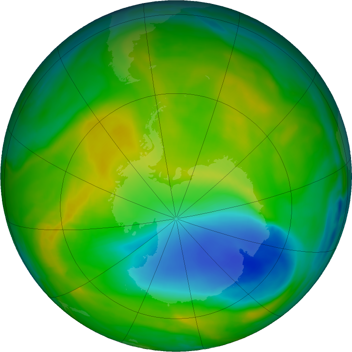 Antarctic ozone map for 17 November 2017