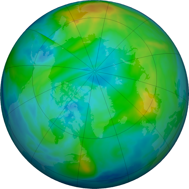 Arctic ozone map for 18 November 2017