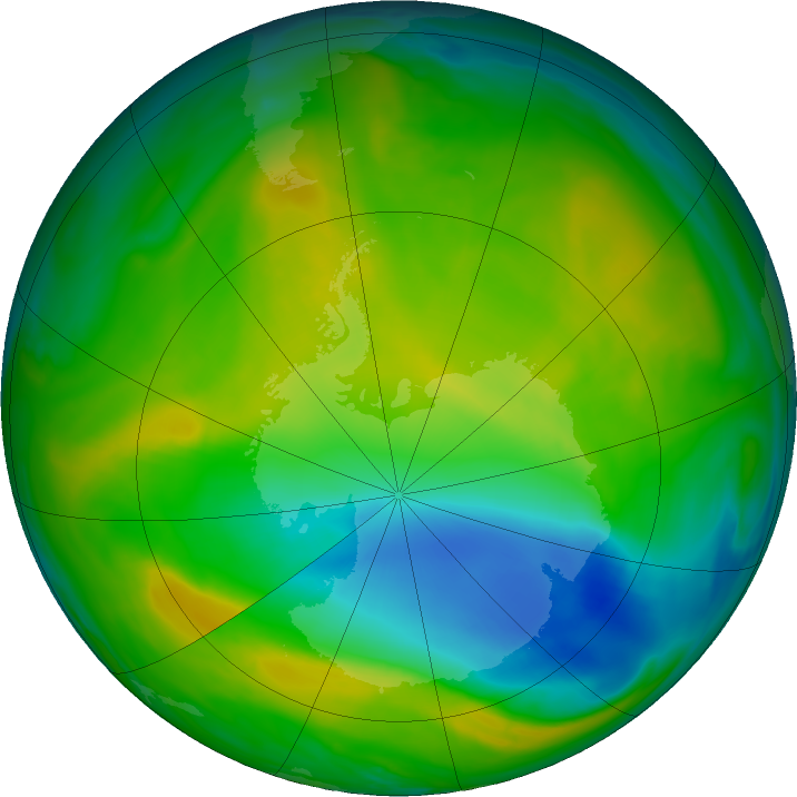Antarctic ozone map for 18 November 2017