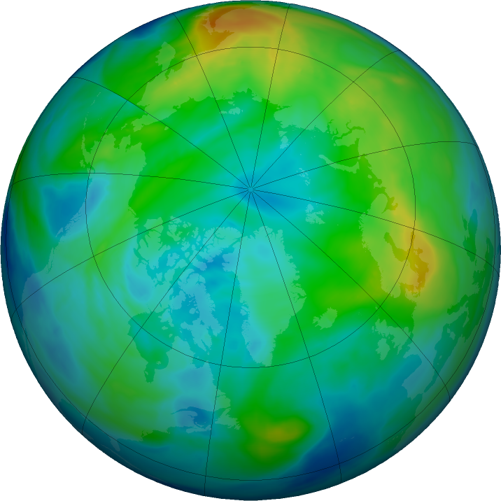 Arctic ozone map for 19 November 2017