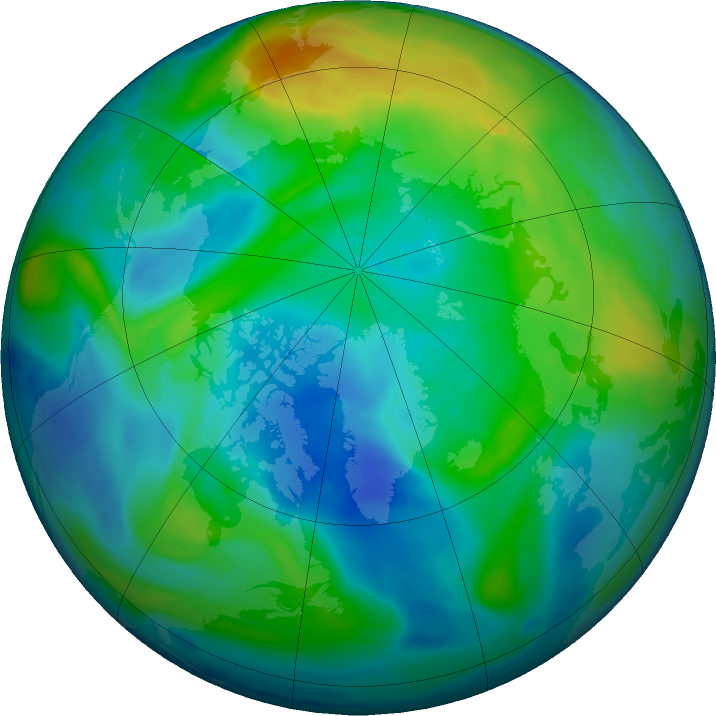 Arctic ozone map for 21 November 2017
