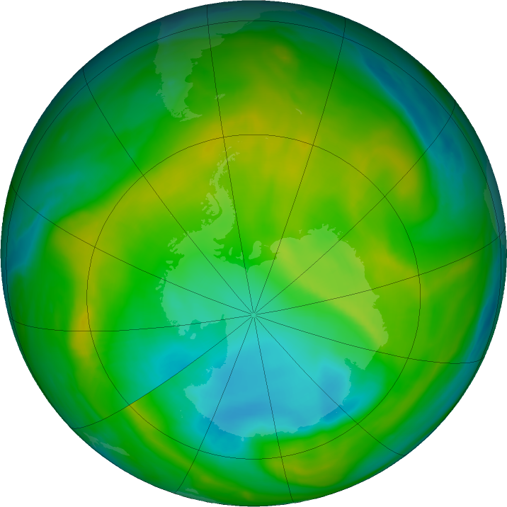 Antarctic ozone map for 24 November 2017