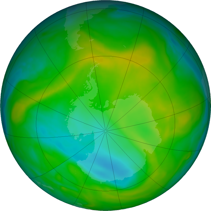 Antarctic ozone map for 26 November 2017
